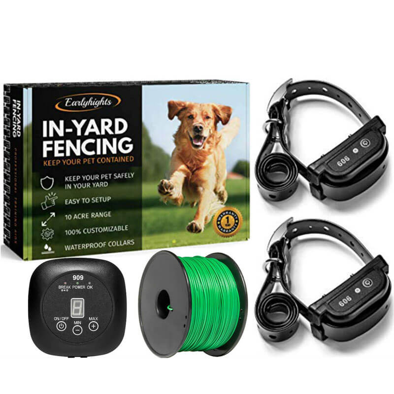 Amazon Com New Dog Fence Collar For Invisible Fence Brand Pet Fencing Systems Better Than The R21 Invisible Fence System Frequency 7k High Perimeter Technologies Wireless Pet Fence Products Pet Supplies